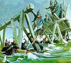 Construction des ponts sur la Berezina