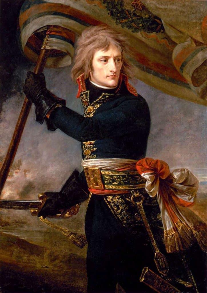 Bonaparte au pont d'Arcole . Gros