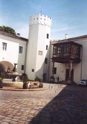 La cour du château d'Ebelsberg aujourd'hui