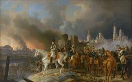 Napoléon en Russie - Peinture de Faber du Faur