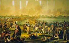 Passage du Danube le 4 juillet 1809. Musée de la ville de Vienne.