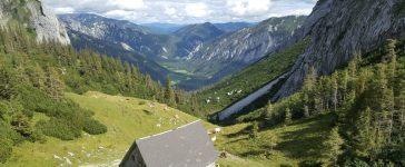 Blick von der Häuslalm nach St. Ilgen am Hochschwab