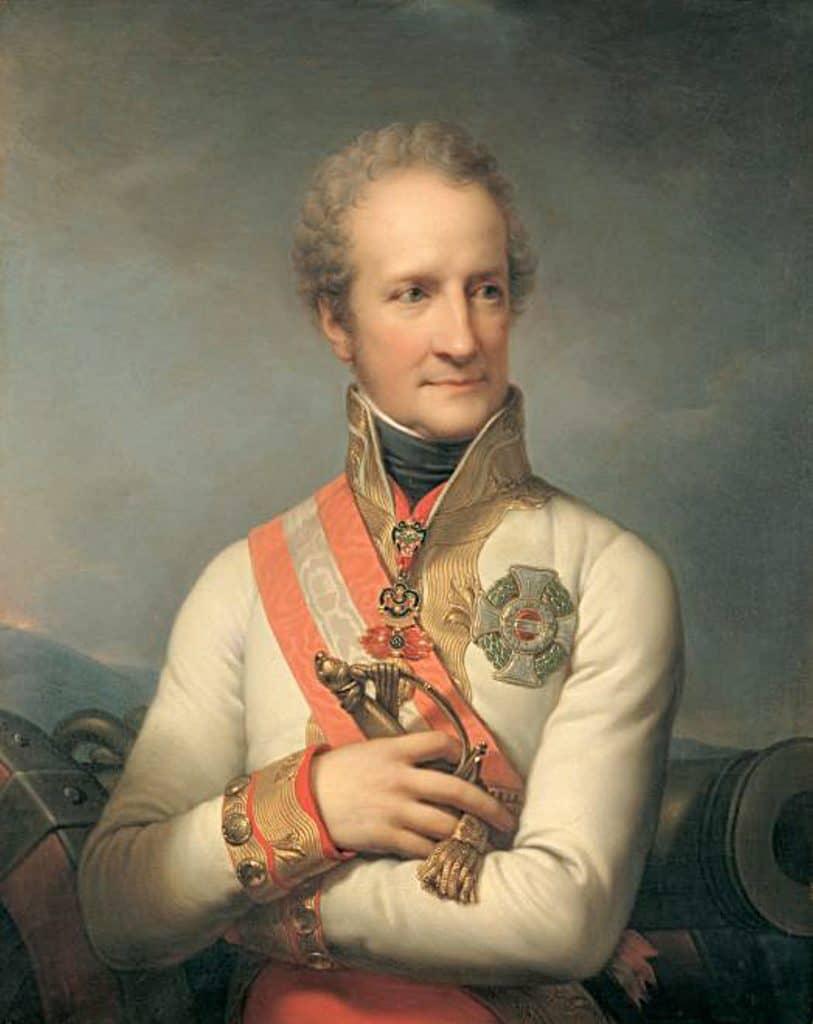 Johann I. Josef von Liechtenstein. Portrait de Johann Lampi, Heeresgeschichtliches Museum