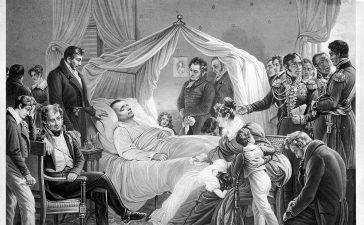 La Mort de Napoleon, 1821, à Sainte-Hélène. Credit: Wellcome Library