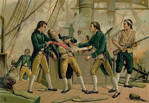 Mort de Gravina à Trafalgar. Mendoza (Alamy)
