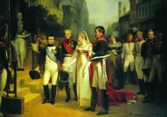 Napoléon recevant la Reine Louise à Tilsit (Nicolas Gosse)