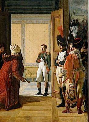 Napoléon Ier reçoit au château de Finkenstein en Pologne, l'Ambassadeur du Shah de Perse