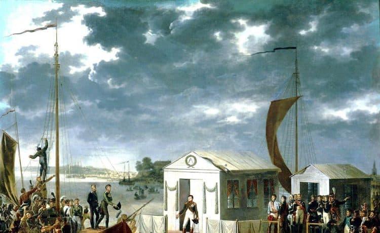La rencontre de Tilsit - Adolphe Roehn (Base de données Joconde)