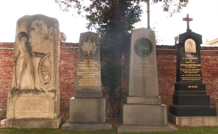 Tombe de Smola au cimetière central (à gauche sur la photo)