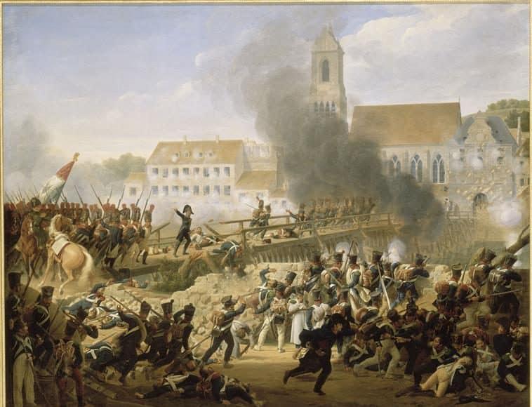 Le général Mouton au pont de Landshut., D après Hersent