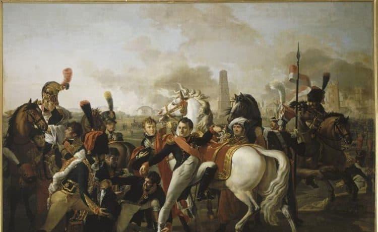 Napoléon blessé à Ratisbonne. Gautherot