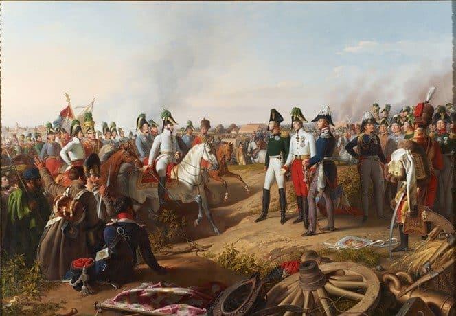 La victoire de Leipzig annoncée aux souverains alliés