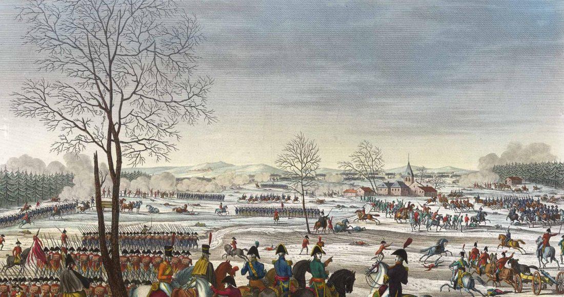 La bataille d'Hohenlinden. Image d'Épinal
