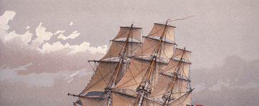 Frégate anglaise vers 1770