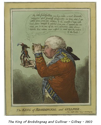 The King of Brobdingnag and Gulliver. Gillray - 1803