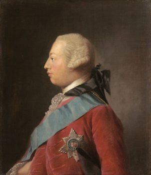Portrait de George III par Allan Ramsay, 1762.
