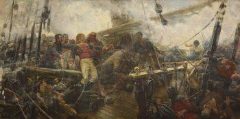 La mort de Churruca, Eugenio Álvarez Dumont, Musée du Prado