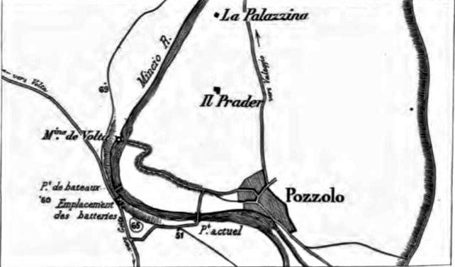 Champ de bataille de Pozzolo - Échelle 1/25000