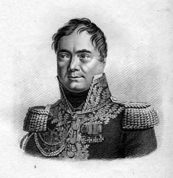 Portraits des généraux français faisant suite aux Victoires et conquêtes des Français », C.L.F Panckoucke, 1818, tome 2.