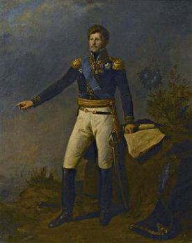 Le général de division baron Julien Auguste Joseph Mermet. Huile sur toile du XIXe siècle.