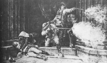 La bataille de Grandchamp - peinture de B. de Gironde, XIXe siècle