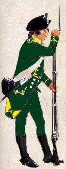 Chasseur du 4° Bataillon de chasseurs Corses