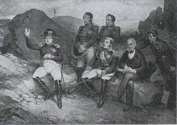 Napoléon et ses compagnons d'exil