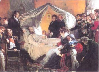 Napoléon sur son lit de mort